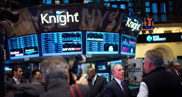 Mayor Michael R. Bloomberg of New York City on the floor of the New York Stock Exchange on Wednesday.