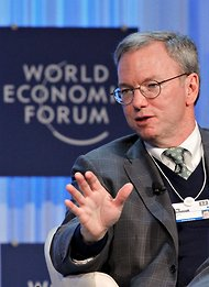 Eric E. Schmidt, executive chairman of Google, at Davos on Friday.