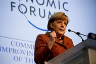 Angela Merkel, the chancellor of Germany, said recent moves had calmed markets but have not solved the euro zone's underlying economic problems.