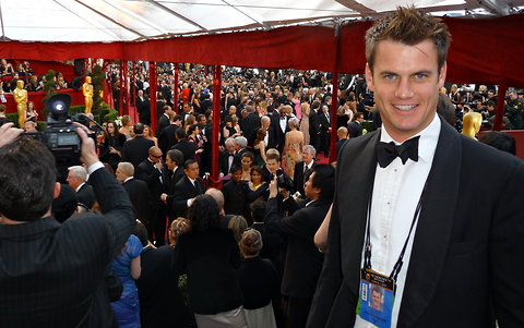 Guy Adams the Los Angeles correspondent for The Independent, shown at the 2010 Oscars. He posted the work e-mail address of Gary Zenkel, an NBC executive.