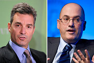 Daniel Loeb, left, of Third Point, and Steven A. Cohen of SAC Capital Advisors.