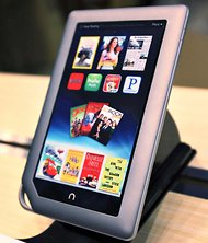 A Nook tablet