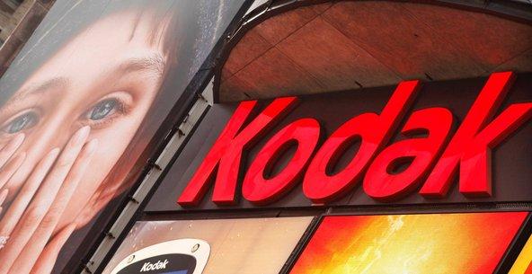 A Kodak sign in Times Square.