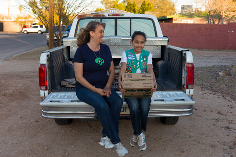 Pilar Ruiz chaperones her daughter Mary on most of her cookie-selling expeditions but does not sell cookies on her behalf.