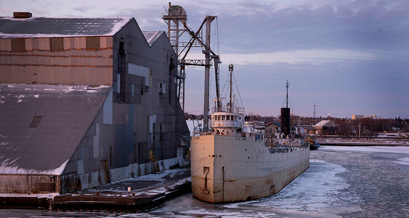 The Gavilon Grain dock at the Port of Duluth-Superior in Superior, Wis., in January.