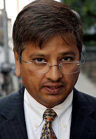 Rajiv Goel was sentenced on conspiracy and and securities fraud charges in New York on Monday.