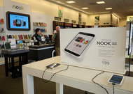 Barnes  Noble reported a sharp drop in sales of the Nook.