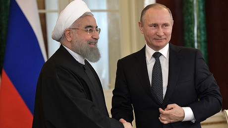March 28, 2017. Russian President Vladimir Putin and President of the Islamic Republic of Iran Hassan Rouhani. © Aleksey Nikolskyi