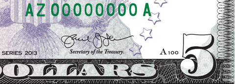 Treasury Secretary Jacob J. Lew's signature as it will appear on currency.