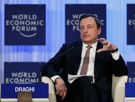 Mario Draghi, the president of the European Central Bank, at the World Economic Forum in the Swiss resort of Davos on Friday.