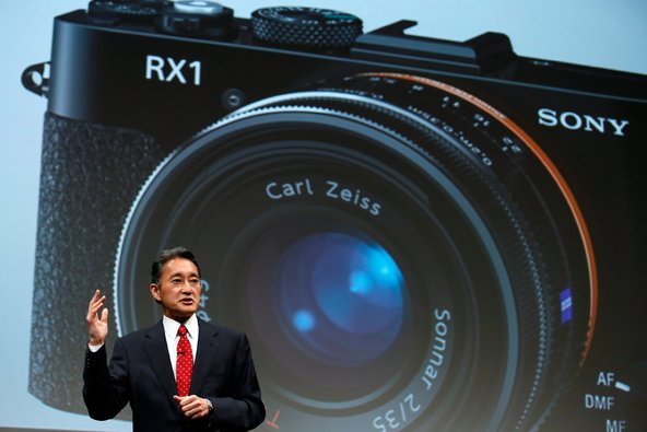 Kazuo Hirai, chief of Sony, at a corporate strategy presentation in Tokyo on Wednesday.