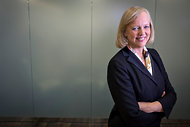 Meg Whitman, the chief of Hewlett-Packard, has overseen a bad financial year at the company.