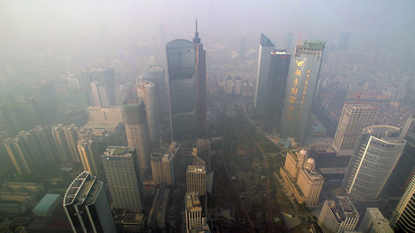 Buildings are seen at the central business district in Guangzhou, Guangdong province, China © Alex Lee