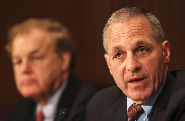 Louis Freeh, the trustee overseeing MF Global's bankruptcy case, at a Senate panel last year.