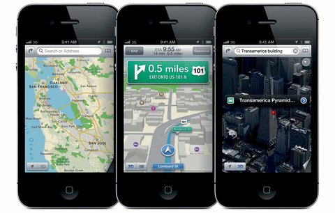 Apple's Maps app for iOS 6.