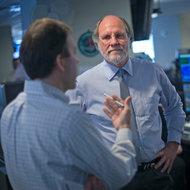 Jon S. Corzine on the trading floor of MF Global last year.