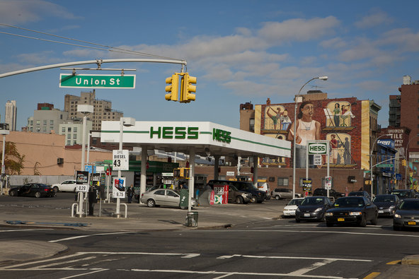 A Hess gas station in Brooklyn.