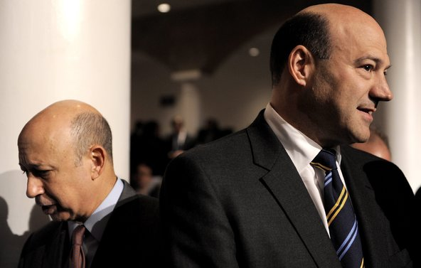 Lloyd Blankfein, left, chief of Goldman Sachs, and Gary Cohn, the bank's president, in 2010.