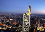 The Frankfurt headquarters of Commerzbank, Germany's second-largest lender.