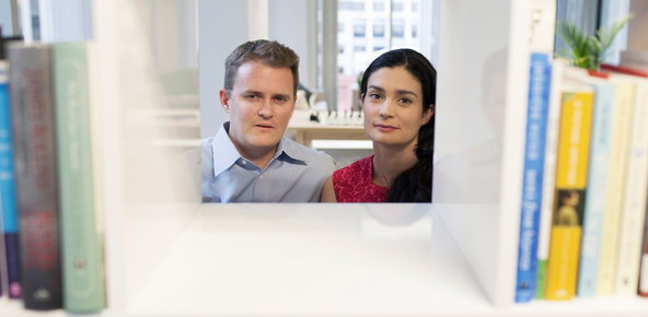 Otis Chandler and his wife, Elizabeth Khuri Chandler, the founders of Goodreads, a social media site that recently sold for a reported $150 million.