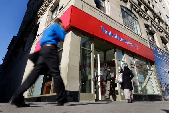 A Bank of America branch in New York.