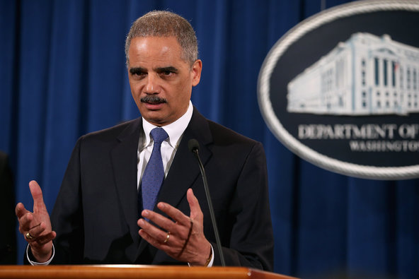 Attorney General Eric H. Holder Jr. announced the civil fraud charges against S.P. in Washington on Tuesday.
