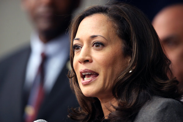 Kamala Harris, the California attorney general, is accusing JPMorgan Chase of credit card collection abuses.
