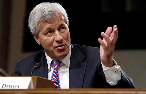 Jamie Dimon, chief of JPMorgan Chase, at a Senate panel last year.