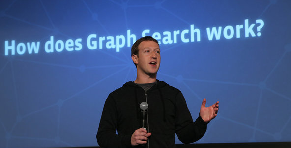 Mark Zuckerberg at Facebook's event on Tuesday.
