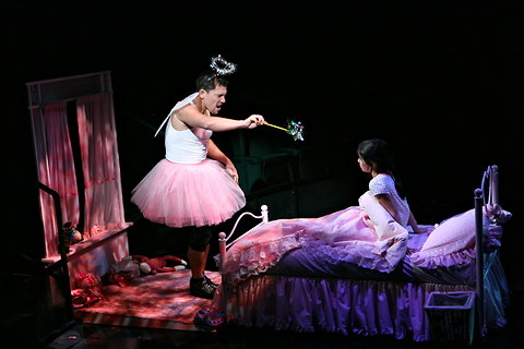 The tooth fairy in 2009 in the play, Happiness.