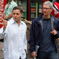 Timothy D. Cook, right, chief of Apple, with Julius Genachowski, the Federal Communications Commission chairman.