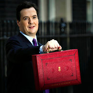 George Osborne, Britain's Chancellor of the Exchequer, displayed the 2011 budget.