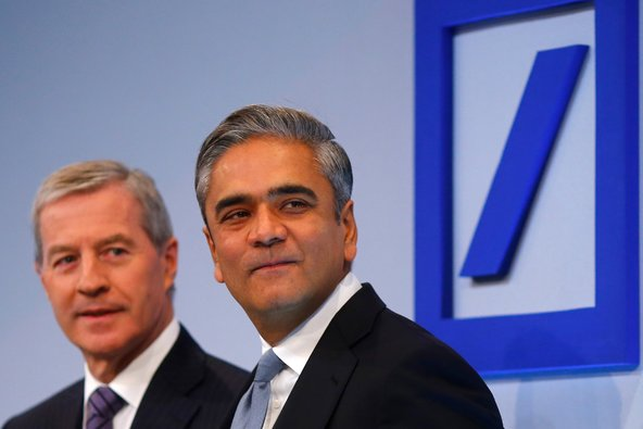 Anshu Jain, right, and Jürgen Fitschen, co-chairmen of Deutsche Bank.