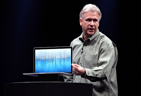 Phil Schiller announces the new MacBook Pro.