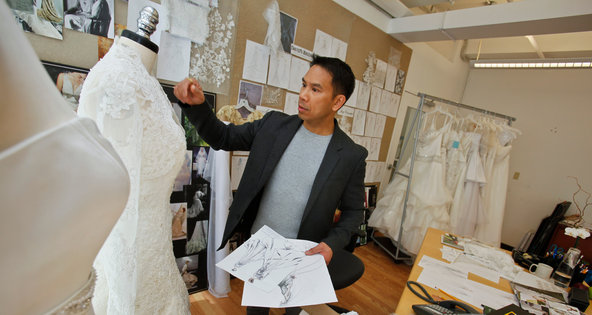 Dan Rentillo, design director for David's Bridal, in the company's studio in Manhattan in 2011.