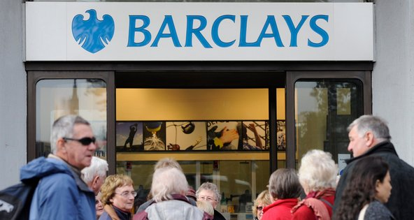 A branch of Barclays in London. On Wednesday, the British bank posted a net loss of £106 million ($170 million) in its latest earnings report.