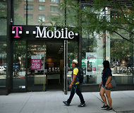 A branch of T-Mobile USA in Manhattan. The network operator is a unit of the German telecom giant Deutsche Telekom.