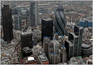 The London offices of financial firms such as Swiss Re and Lloyd's of London.