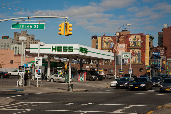 A Hess gas station in Brooklyn.