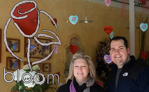 Kim Murray  Russ Dietz, new owners of Bloom.