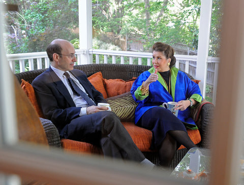 Kenneth Rogoff and Carmen Reinhart at Ms. Reinhart's Washington home in 2010, the year their study