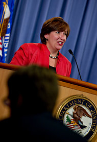 Sharis A. Pozen, the acting assistant attorney general for the Justice Department's antitrust division.