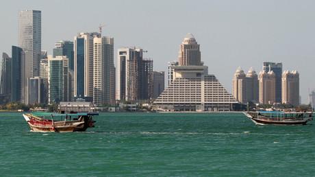 Buildings are seen on a coast line in Doha, Qatar © Naseem Zeitoon