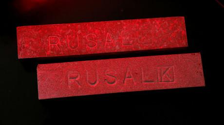 Aluminium ingots made at the RUSAL (Russian Aluminum) Krasnoyarsk aluminium smelter © Ilya Naymushin
